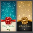 Christmas greeting cards — Stock Vector #60167671