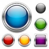 Glänzende Tasten-design-Elemente — Stockvektor