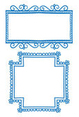 Doodle frames — Stock Vector