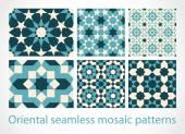Oriental seamless mosaic patterns — Stock Vector