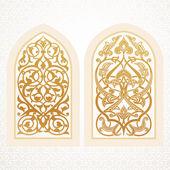 Vector windows in arabic style — Stock Vector