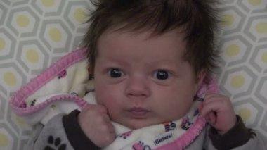 Cute Newborn Baby — Stock Video