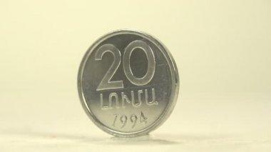 20 luma coin of Armenia — Stock Video