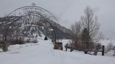 Cemetery Of Crested Butte — Stock Video