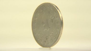 One cent Iranian coin — Stock Video