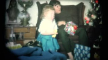 Christmas Morning in 1965 — Stock Video