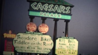 Caesars Hotel Casino in Las Vegas — Stock Video