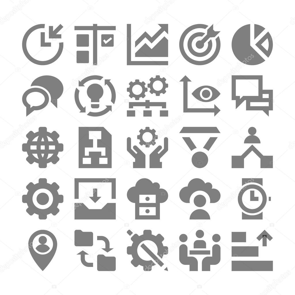 Project Management Vector Icons 2 — Stock Vector ...