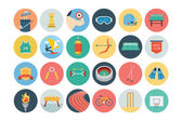 Sports Flat Icons - Vol 3 — Stock Vector