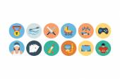 Sports Flat Icons - Vol 5 — Vettoriale Stock