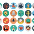 Flat Halloween Vector Icons 2 — Stock Vector #74413975