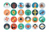 Flat Halloween Vector Icons 2 — Stock Vector