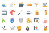 Food Colored Vector Icons 5 — Stock Vector