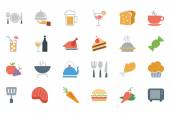 Food Colored Vector Icons 1 — Stock Vector