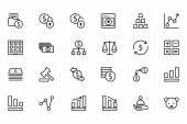 Finance Line Icons 2 — Stock Vector