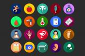 Medical Flat Colored Icons 5 — Stock Vector