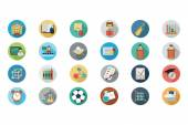 Education Vector Flat Icons 6 — Cтоковый вектор