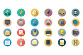 Education Vector Flat Icons 2 — 图库矢量图片