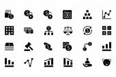Finance Vector Solid Icons 2 — Stock Vector