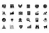 Finance Vector Solid Icons 4 — Stock Vector