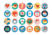 Love and Romance Flat Colored Icons 2 — Stok Vektör