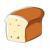 Ikona kolorowy wektor chleb — Wektor stockowy