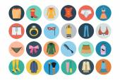 Fashion Flat Icons 2 — Stock Vector