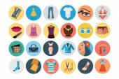 Fashion Flat Icons 3 — Stock Vector