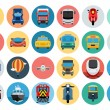 Flat Transport Icons 1 — Stock Vector #76370297