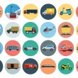 Flat Transport Icons 3 — Stock Vector #76370307