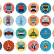 Постер, плакат: Flat Transport Icons 2