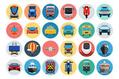 Flat Transport Icons 1 — Stockvector