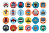 Flat Transport Icons 2 — Stock Vector