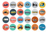 Flat Transport Icons 4 — Stockvektor