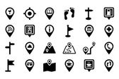 Maps And Navigation Vector Icons 2 — Vetor de Stock