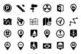 Maps And Navigation Vector Icons 4 — Stock Vector