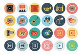 Multimedia Flat Icons 3 — Stock Vector