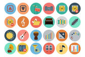 Multimedia Flat Icons 4 — Stock Vector