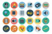 Multimedia Flat Icons 2 — Stock Vector