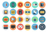 Multimedia Flat Icons 6 — Stock Vector