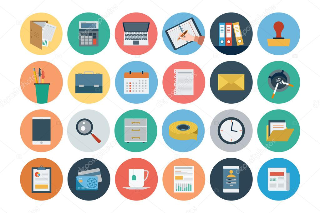 Office Flat Icons 1