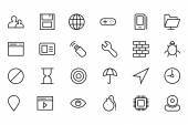 Internet Vector Line Icons 3 — Stock Vector