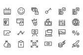 Money Vector Line Icons 4 — Stock Vector