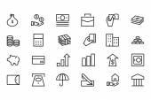Money Vector Line Icons 1 — Stock Vector