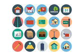 Flat Real Estate Vector Icons 4 — Stock Vector