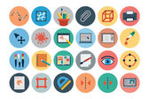 Flat Design Vector Icons 3 — Stockvektor