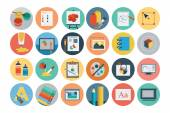 Flat Design Vector Icons 6 — Stock Vector