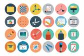 Flat Design Vector Icons 5 — Stock Vector
