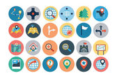 Maps and Navigation Flat Icons 2 — Stock Vector