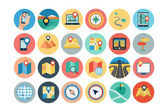 Maps and Navigation Flat Icons 1 — Stock Vector